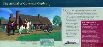 The Arrival of Governor Copley Marker image. Click for full size.