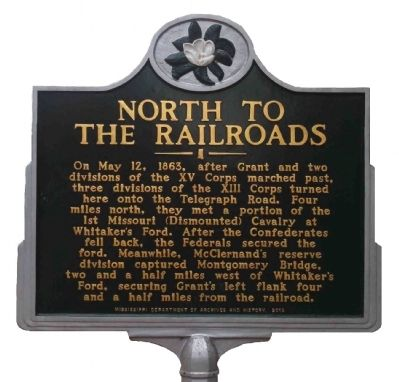 North to the Railroads Marker image. Click for full size.