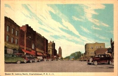 <i>Queen St. looking North, Charlottetown, P.E.I.</i> image. Click for full size.