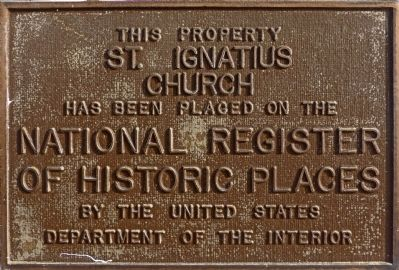 St. Ignatius Church Marker image. Click for full size.