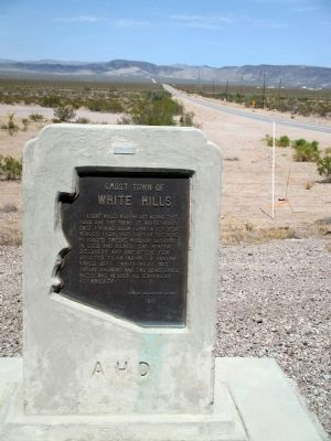 Ghost Town of White Hills Marker Photo, Click for full size