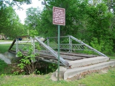 Last Pratt Pony Truss Bridge in Cherokee County and Marker image. Click for full size.