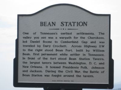 Bean Station Marker image. Click for full size.