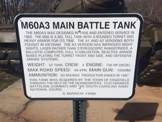 M60 A3 Main Battle Tank Marker image. Click for full size.