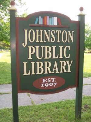 Johnston Public Library Sign image. Click for full size.