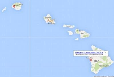 Captain Cook Monuments In Hawaii image. Click for full size.