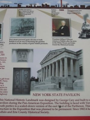 Center Detail - Highlights of Buffalo History Marker image. Click for full size.