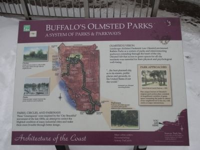 Buffalo's Olmsted Parks Marker image. Click for full size.
