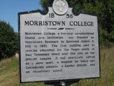 Morristown College Marker image. Click for full size.