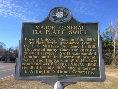 Major General Ira Platt Swift Marker image. Click for full size.