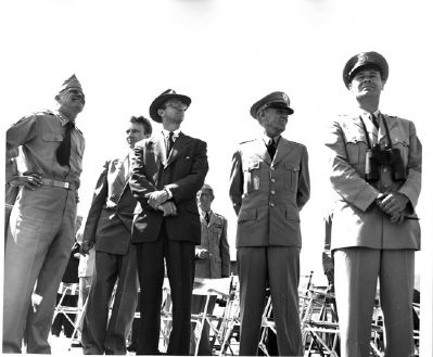 Major General Ira Platt Swift (second from right) image. Click for full size.