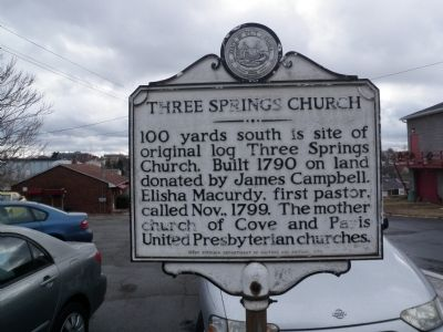 Three Springs Church Marker image. Click for full size.