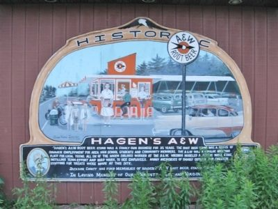 Hagen's A&W Marker image. Click for full size.