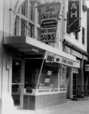 Ben's Chili Bowl 1958 image. Click for full size.