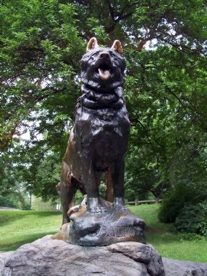 Balto Marker in New York City image. Click for full size.