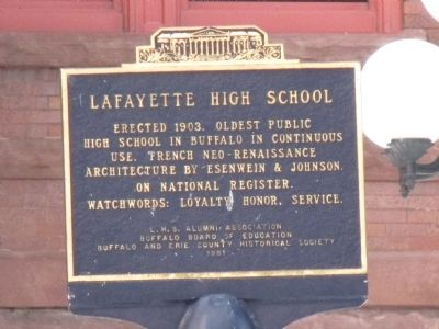 Lafayette High School Marker image. Click for full size.