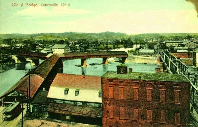 <i>Old Y Bridge, Zanesville, Ohio</i> image. Click for full size.