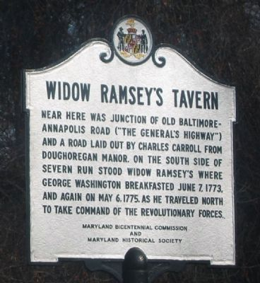 Widow Ramsey's Tavern Marker image. Click for full size.