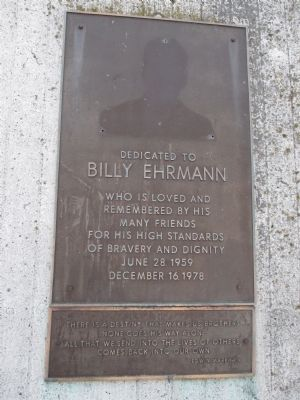 Billy Ehrmann Plaques image. Click for full size.