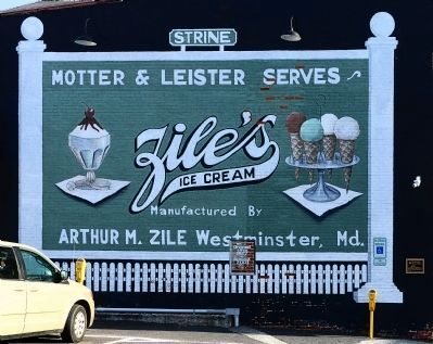 Zile's Ice Cream Sign image. Click for full size.