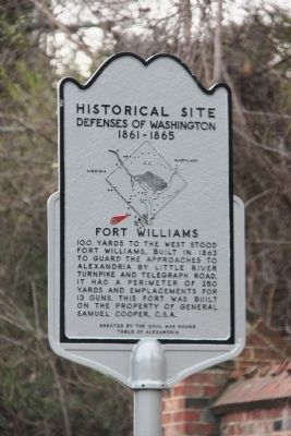 Fort Williams Marker image. Click for full size.