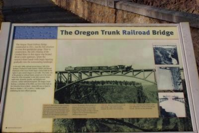 The Complete Oregon Trunk Railroad Bridge Marker image. Click for full size.