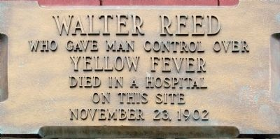 Walter Reed Marker image. Click for full size.