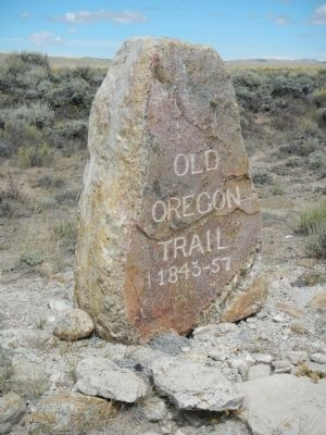 Old Oregon Trail Marker image. Click for full size.