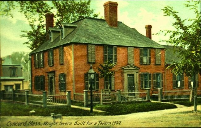 <i> Concord, Mass., Wright Tavern. Built for a Tavern 1747. </I> image. Click for full size.