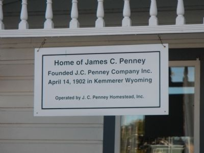 Home of James C. Penney Marker image. Click for full size.