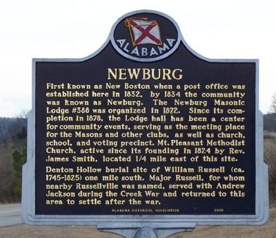 Newburg Marker image. Click for full size.