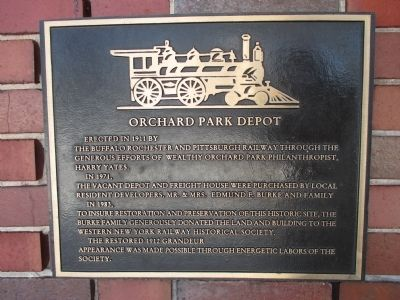 Orchard Park Depot Marker image. Click for full size.