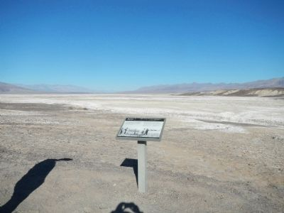 Death Valley where borax was mined. image. Click for full size.