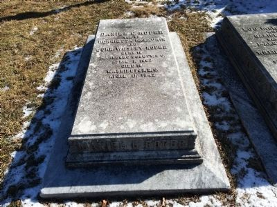 Daniel Calhoun Roper grave in Rock Creek Cemetery, Washington D.C. image. Click for full size.