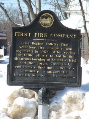 First Fire Company Marker image. Click for full size.