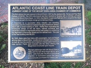Atlantic Coast Line Train Depot Marker image. Click for full size.
