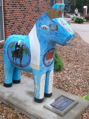 """Methodist Mare"" Dala Horse image. Click for full size."