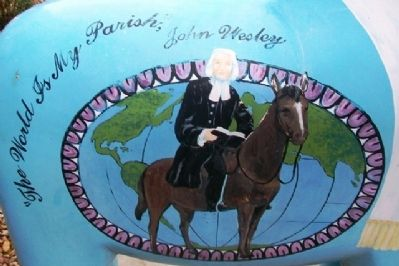"John Wesley on ""Methodist Mare"" image. Click for full size."