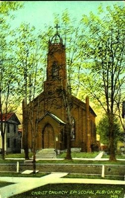 <i>Christ Church Episcopal, Albion, N. Y.</i> image. Click for full size.