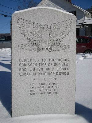 Dedicated to the Honor Memorial (WWII) image. Click for full size.
