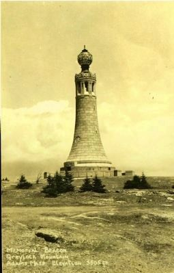 <i>Memorial Beacon Greylock Mountain Adams, Mass. Elevation 3505 ft.</i> image. Click for full size.
