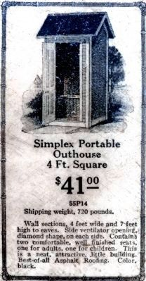 Simplex Portable Outhouse<br>4 Ft. Square<br>$41.00 image. Click for full size.