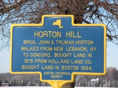 Horton Hill Marker image. Click for full size.