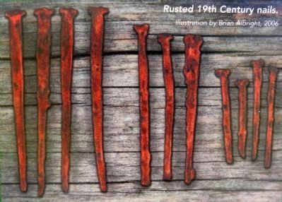 Rusted 19th Century Iron Nails image. Click for full size.