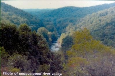 Photo of undeveloped river valley. image. Click for full size.