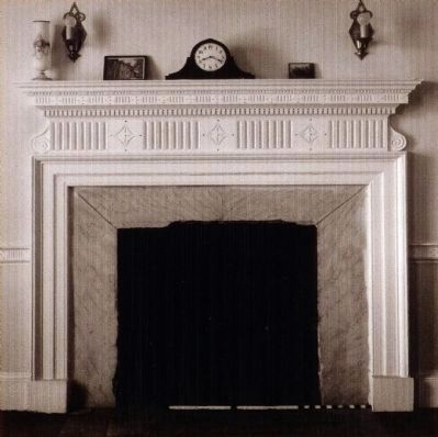 Mantel in the Main Parlor 1936 image. Click for full size.