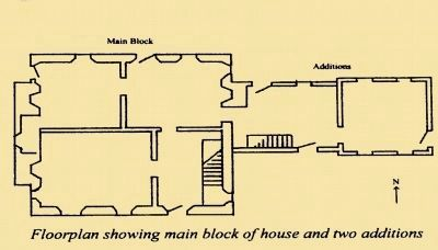 Floor Plan Showing Main Block and two additions image. Click for full size.