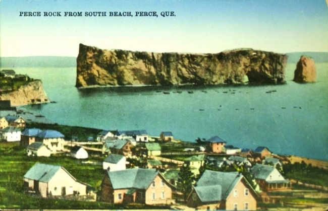 <i>Perce Rock from South Beach, Perce, Que.</i> image. Click for full size.