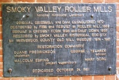 Smoky Valley Roller Mills Marker image. Click for full size.