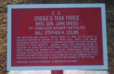 C.S. Gregg's Task Force Marker Photo, Click for full size
